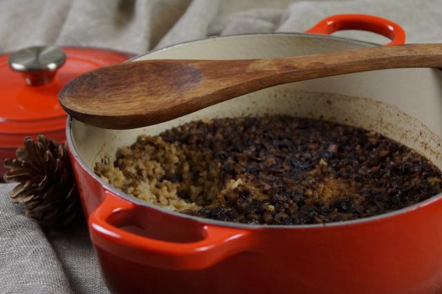 uunissa haudutettu riisipuuro8